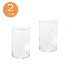 Seeded Glass Lamp Shade Replacement Glass Pieces with 1-5/8-Inch Fitter 2-Pack, A00004